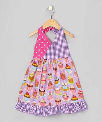 Lavender Cupcakes Halter Dress - Toddler & Girls