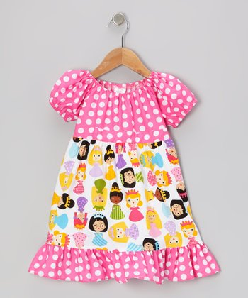 White Princesses Patty-Cake Dress - Toddler & Girls