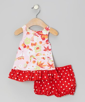 Pink Hawaiian Top & Bloomers