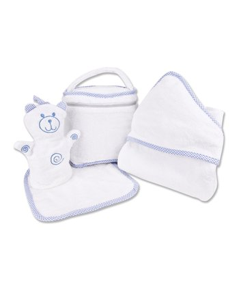 White & Blue Bath Bag Set