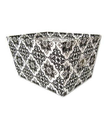Black & White Versailles Large Fabric Storage Bin