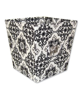 Black & White Versailles Medium Fabric Storage Bin