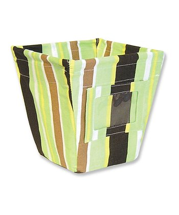 Giggles Stripe Small Fabric Storage Bin