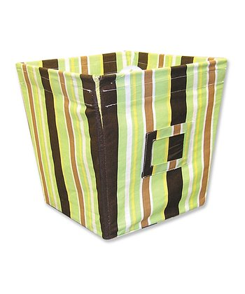 Giggles Stripe Medium Fabric Storage Bin