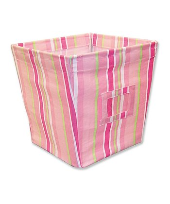 Paisley Park Stripe Medium Fabric Storage Bin