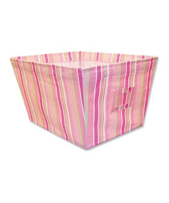 Paisley Park Stripe Large Fabric Storage Bin