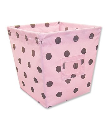 Maya Dot Medium Fabric Storage Bin