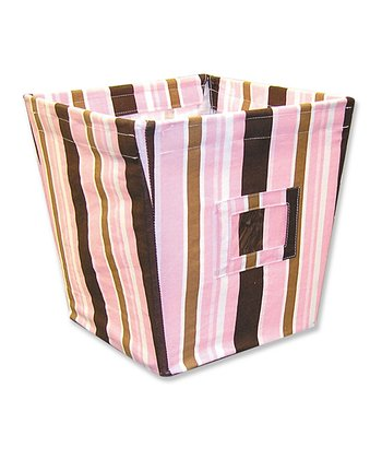 Maya Stripe Medium Fabric Storage Bin