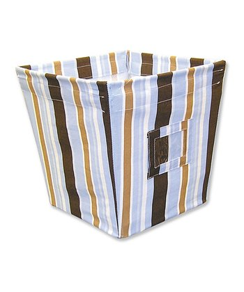 Max Stripe Medium Fabric Storage Bin