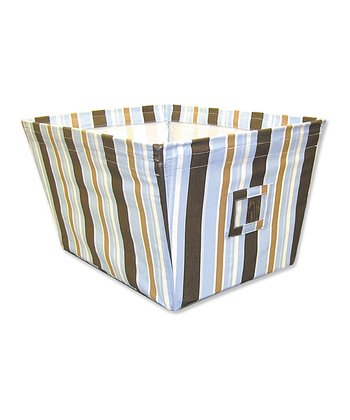 Max Stripe Large Fabric Storage Bin