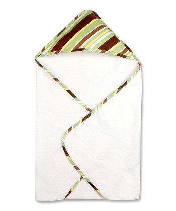 Brown & Green Giggles Stripe Hooded Towel