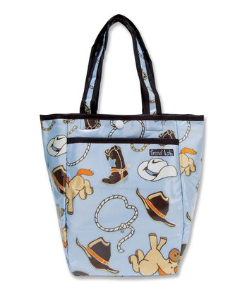 Blue & Brown Cowboy Baby Mini Diaper Bag