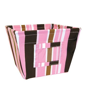 Maya Stripe Gift-Size Fabric Storage Bin