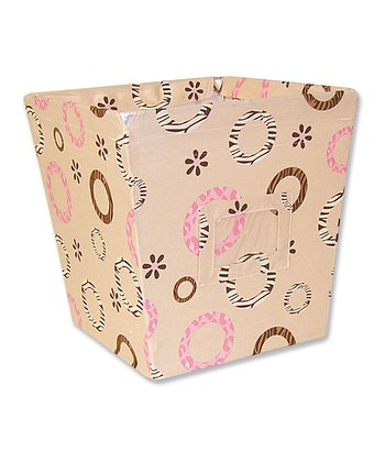 Sweet Safari Pink Medium Fabric Storage Bin