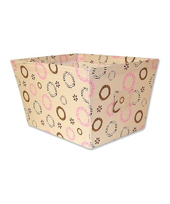 Sweet Safari Pink Large Fabric Storage Bin