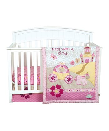 Pink Storybook Princess Crib Bedding Set