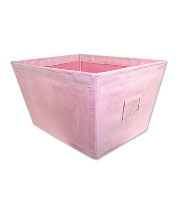 Pink Ultra Suede Large Fabric Storage Bin