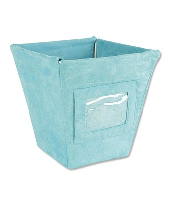 Turquoise Ultra Suede Small Fabric Storage Bin