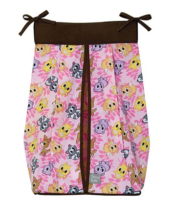 Pink Lola Fox & Friends Diaper Stacker