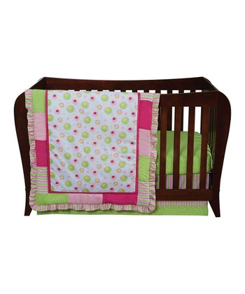 Pink Splash Crib Bedding Set