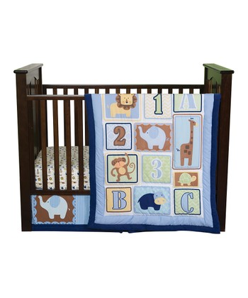 Blue Jungle 123 Crib Bedding Set