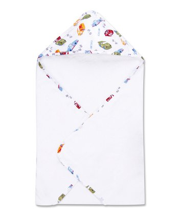 White NASCAR Bouquet Hooded Towel