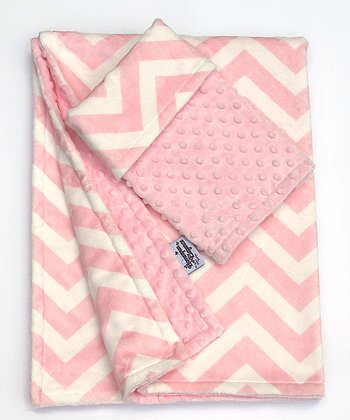 Pink Zigzag Stroller Blanket & Security Blanket