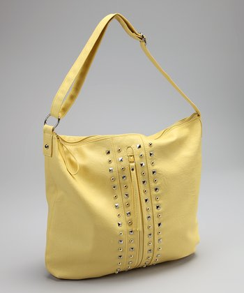 Yellow Studded Hobo