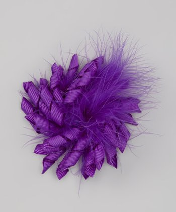 Purple Feather Korker Clip