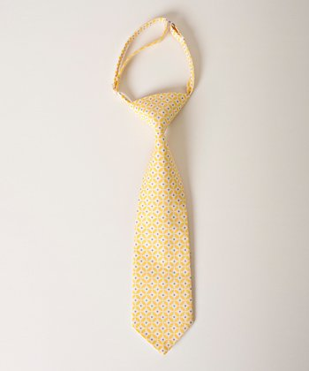 Yellow & Gray Geometric Tie