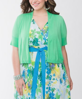 Spearmint Plus-Size Shrug