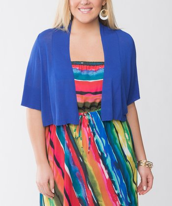 Deep Blue Sea Plus-Size Shrug