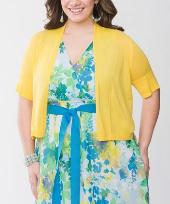 Lemon Zest Plus-Size Shrug
