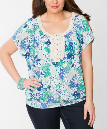Capri Plus-Size Cutout Top