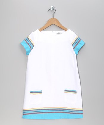 White Maya Shift Dress - Toddler & Girls