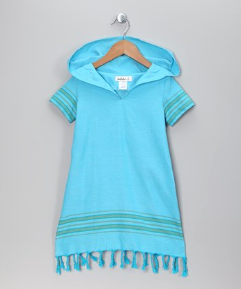 Blue Riding Hooded Dress - Toddler & Girls