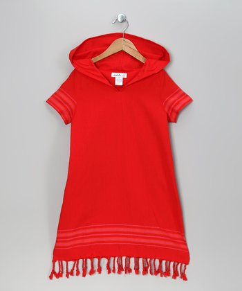 Red Riding Hooded Dress - Toddler & Girls