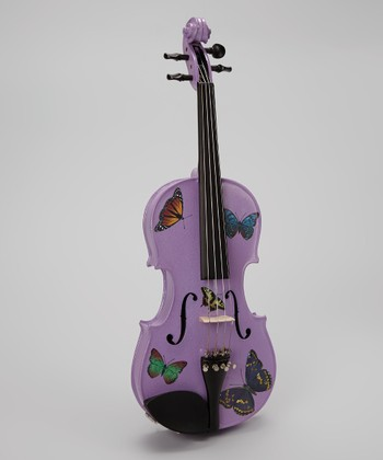 Lavender Glitter Butterfly Dream Violin