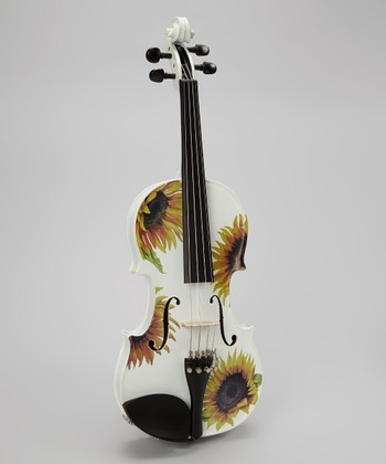 White Sunflower Delight Violin