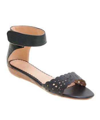 Black Ann Ankle-Cuff Sandal
