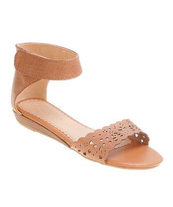 Lil Miz Tan Ann Ankle-Cuff Sandal