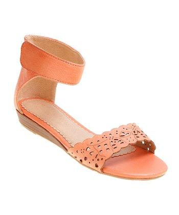 Orange Ann Ankle-Cuff Sandal