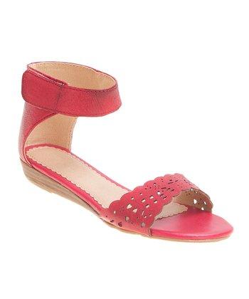 Lil Miz Red Ann Ankle-Cuff Sandal