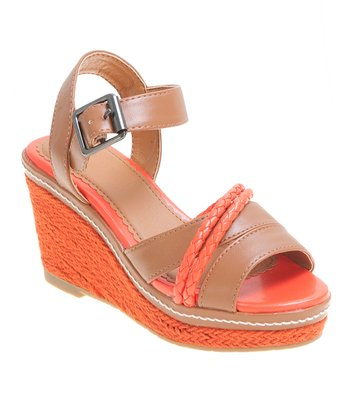 Orange & Brown Maya Wedge