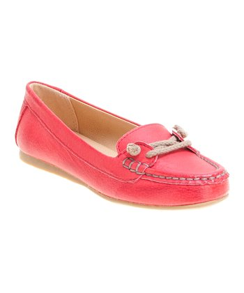 Red Seaheart Boat Shoe