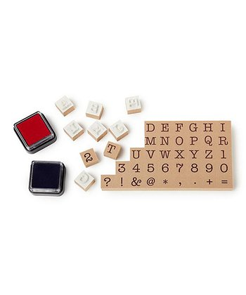 Typewriter Stamp & Ink Set