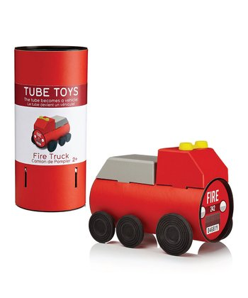 Fire Truck Tube Puzzle Toy Set