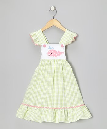 Lime Whale Seersucker Dress - Infant, Toddler & Girls