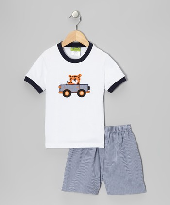 Blue Tiger Tee & Blue Shorts - Infant, Toddler & Boys