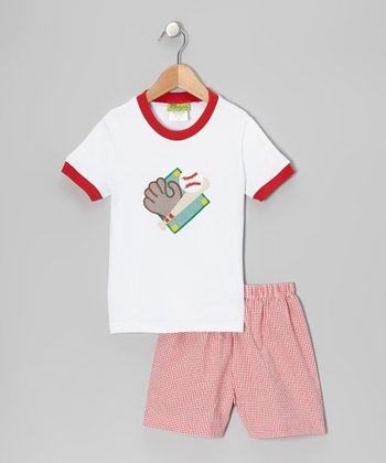 Red Baseball Tee & Red Shorts - Infant, Toddler & Boys